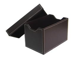 High quality PU leather Cd Rack,l cd/dvd case