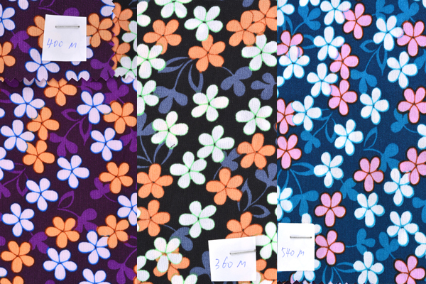 Lot stock chers 100% tissu imprimé de polyester laine peach tissu stock avec beaucoup de conceptions