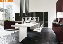 2015 latest design kitchen cabinet, Blum hardware, lacquer kitchen cabinet