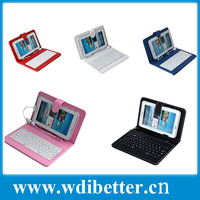 7 inch PU Leather Case with USB Keyboard with Stylus Pen Cover