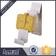 Fashion stores stainless steel wallet display