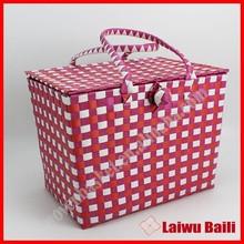 New fashion wholesale plastic wicker picnic basket