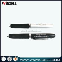 black metal ballpoint pen with rubber grip