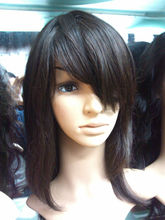 New products 6A high quality black women brazilian hair full lace wig