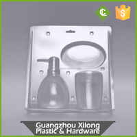 custom clear PET/PVC clamshell blister packing box, blister trays, cardboard blister packaging box