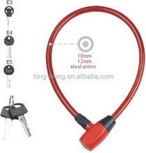 Safety bike lock, bicycle cable lock, safe lock for bike