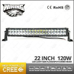 Wining Dual Row Light Bar for Jeep , Off Road Curved Light Bar High Power 120w Led Headlight