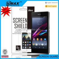 Mobile phone screen guards for Xperia z1 Honami oem/odm(Anti-Fingerprint)
