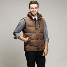 Winter warmer Vest pocket down filling outdoor waistcoat for men