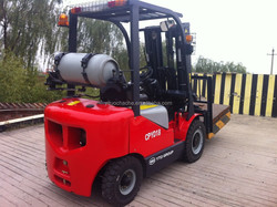 YTO dual fuel gasoline and LPG forklift truck 3ton CPYD30 with CE