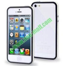 2 in 1 Double Color Plastic + TPU Bumper Frame Case for iPhone 5S & 5 with Buttons