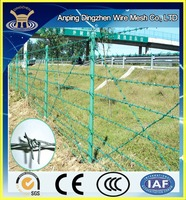 Discount!!!Professional production barbed wire price per roll & barbed wire roll price fence & pvc barbed wire