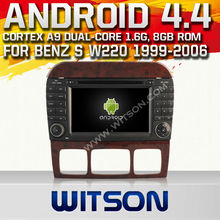 WITSON Android 4.4 car dvd for MERCEDES BENZ S Class W220 WITH CHIPSET 1080P 8G ROM WIFI 3G INTERNET DVR SUPPORT
