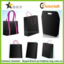 2015 custom high quality & inexpensive black paper bag for shopping/gift