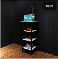 European style multi-tier metal floor display stand for clothes, shoes