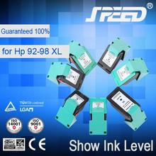 Show ink level high quality ink refill tools for hp 92 with new chip