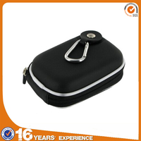 EVA Molded Compact Camera Zipper Pouch Carrying bag Case with climbing carabiner