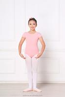 Girls ballet leotard with short retiform sleeve,sexy ballet leotard,children gymnastic leotard