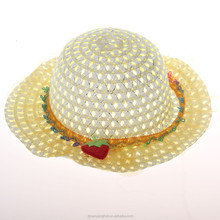Beautiful fashion children paper kids straw hats