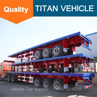 TITAN 40ft 3 Axles Semi Trailer Container Trailer Best Selling Semi Trailer