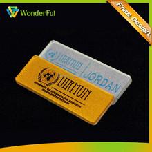 Fancy Acrylic/Rhinestone Flshing Name Badges With Pin