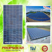 Propsolar 200kw solar panel system with TUV, CE, ISO, INMETRO certificates