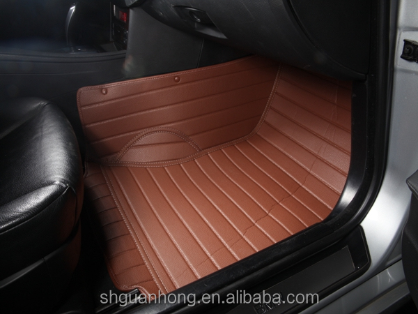 5d celerio car foot mat leather car floor covered mats for Leather flooring cost