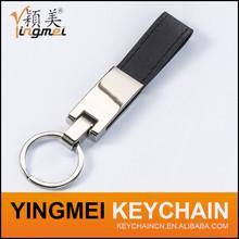 2015 Promotional high quality keyring handmade pu custom leather keychain wholesale