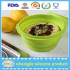 Heat resistant silicone bowl travel feeding baby bowl children color noodle bowl