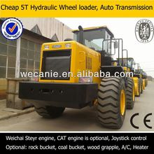 diesel engine wheeled loader,rock/coal bucket,5t big loader
