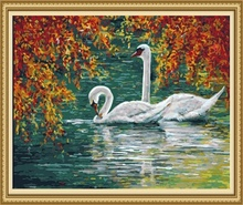 40*50cm wholesale painting swan, diy painting by numbers