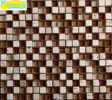 .Installing golden select kitchen mosaic wall tile