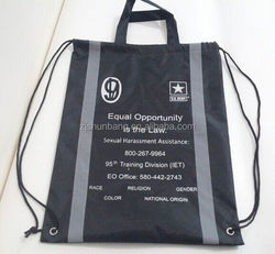 polyester back bags/ foldable polyester eco bag polyester bag with pouch