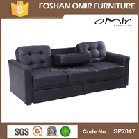 SP7047 functional wooden transformer sofa bed with drawers