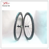 Cheap carbon tubular 50mm wheel bicycle, carbon road bike wheels tubular with Bitex hub Sapim cx-delta spokes factory price