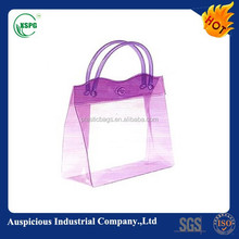 High quality colored pvc bag with pipe handle