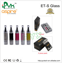 Popular e cig atomizer aspire et-s glass version