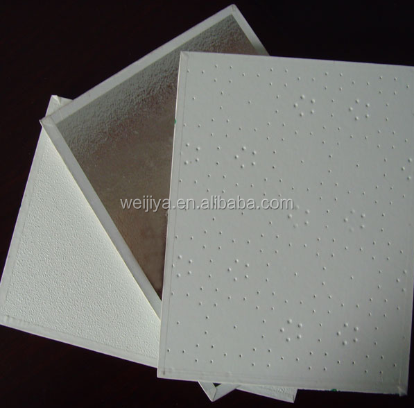 Vinyl coated ceiling tiles