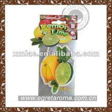 mango paper air freshner with header card for promotional gift OEM&ODM