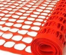 Orange plastic netting