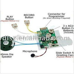 Greeting card sound chip small voice recorders for cards