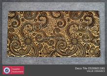 Golden color deco tile,bright color decorative tiles