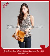 OEM high quality women's leopard print tops