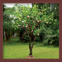 indoor & outdoor artificial lighting peach tree led light of zhong shan led artficial fruit plant for decorative garden