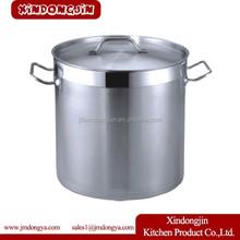 YK-6070 China stock pot factory Single bottom Double bottom steel lid stainless steel stock pot