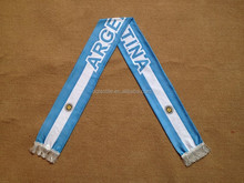2016 Euro Cup Blue and White flag scarf with tassel