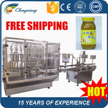 Full Automatic high speed filling & seaming machine,filling honey machine in bottle