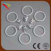 ağır ve rustik metal yüzük perdeler için beyaz renk 6 set