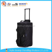 large capacity fashionable carring clothes and shoes waterproof wheeled duffle bag