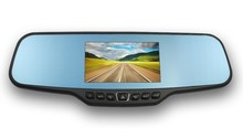 4.3inch HD TFT screen170 degree supper wide viewing angle rear view mirror dvr with optional GPS tracking function